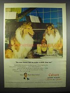 1947 Calvert Reserve Whiskey Ad - Make a Drink Sing