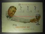 1947 Ballantine Ale Ad - Three Rings Wherever You Go
