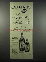 1947 Carling's Red Cap Ale Ad - Largest Selling