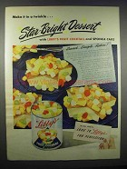 1947 Libby's Fruit Cocktail Ad - Star-Bright Dessert
