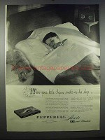 1947 Pepperell Sheets and Blankets Ad - Little Injun