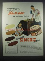 1947 Simoniz Wax Ad - Colors-to-Match