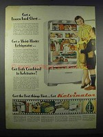 1947 Kelvinator Refrigerator Ad - Frozen Food Chest