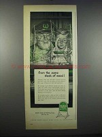 1947 Quaker State Motor Oil Ad - Same Block of Wood
