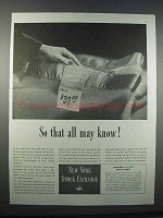 1947 New York Stock Exchange Ad - So That All May Know