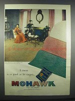 1947 Mohawk Rugs and Carpets Ad - Room is as Good