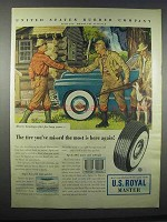 1947 U.S. Royal Master Tire Ad - Tire You've Missed