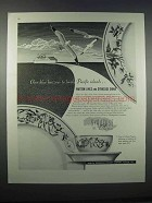 1946 Matson Lines and Syracuse China Ad - Blue Horizons