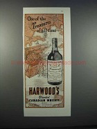 1946 Harwood's Blended Canadian Whisky Ad - Treasures