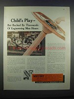 1946 Mallory Electrical Contacts Ad - Child's Play
