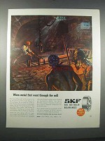 1946 SKF Ball and Roller Bearings Ad - Through the Mill