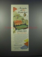 1946 Charm Tred Mills Shag Cotton Rugs Ad - Color