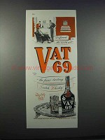 1946 Vat 69 Scotch Ad - Preferred the World Over