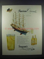 1946 Seagram's Ancient Bottle Distilled Dry Gin Ad