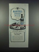 1946 Martell Cognac Brandy Ad - Available Again
