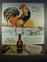 1946 Schenley Reserve Whiskey Ad - Winter Morning