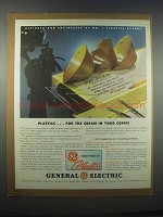 1946 General Electric Plastics Ad - Cream in Coffee