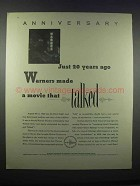 1946 Warner Bros. Movies Ad - Anniversary 20 Years