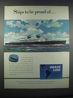 1946 Grace Line Cruise Ad - Ships to Be Proud Of