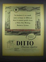 1946 Ditto Business Systems Ad - No Business Too Small