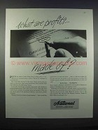 1946 National Cash Register Company Ad - Profits