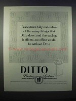 1946 Ditto Business Systems Ad - Executives Understood
