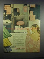 1946 Cannon Towels Ad - Share Alike and Love It