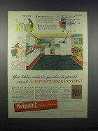 1946 Hotpoint Appliances Ad - Your Kitchen Works