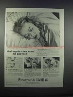 1946 Simmons Beautyrest Mattress Ad - Timely Suggestion