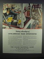 1946 The Chase National Bank Ad - Latin-American Trade