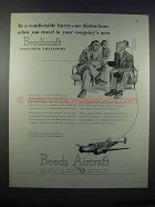 1946 Beech Model 18 Plane Ad - In Comfortable Hurry
