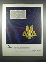1946 American Airlines Ad - Symbol of Service