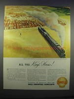 1946 Shell Turbo Oil Ad - All the King's Horses
