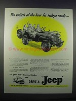 1946 Willys-Overland Jeep Ad - Vehicle of the Hour