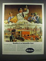 1946 White Trucks Ad - Quality is a Scientific Fact