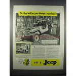 1946 Willys-Overland Jeep Ad - Will Get You Through