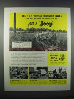 1946 Willys-Overland Jeep Ad - The 4x4 Vehicle