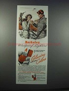 1945 Berkeley Windproof Lighters Ad - Glowing Colors
