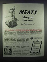 1945 American Meat Institute Ad - Story of the Year