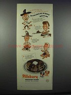 1945 Pillsbury Pancake Flour Ad - Sprits be Mountin'