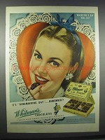 1945 Whitman's Chocolates Ad - Valentine's Day
