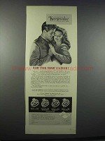 1945 Keepsake Diamond Engagement Rings Ad - For the One