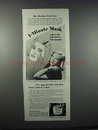 1945 Pond's Vanishing Cream Ad - Mrs. Nicholas du Pont
