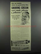 1945 Listerine Shaving Cream Ad - Are We Wacky