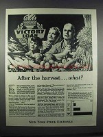 1945 New York Stock Exchange Ad - After the Harvest