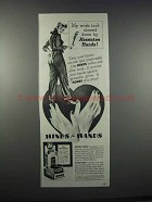 1944 Hinds for Hands Cream Ad - Absentee Hands