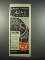 1944 Van Camp's Beans Ad - Are Back Again