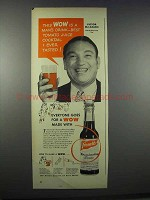 1944 French's Worcestershire Sauce Ad - Victor McLaglen
