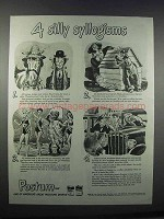 1944 Postum Drink Ad - 4 Silly Syllogisms