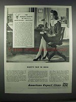 1944 American Export Lines Ad - Mary's Trip to India
